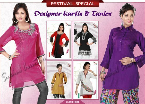 Embroidered Indian Kurti, Designer Kurtis, Kurta, Tunics Tops, Kurti Tunic and elegant Designer kurtis.
