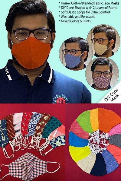 CONE SHAPPED CLOTH FACE MASKS