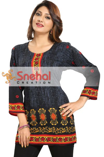 Cynosure Casual Printed Short Tunic for Women